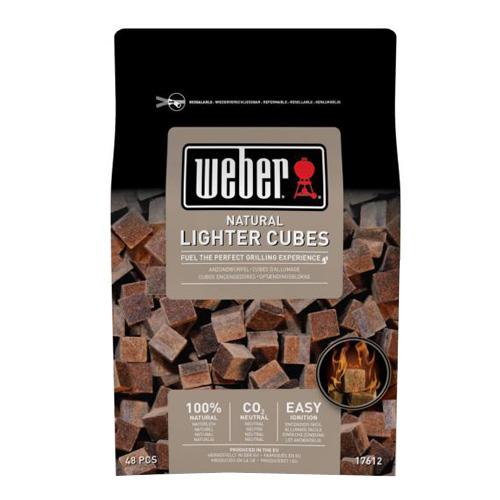 Přírodní podpalovací kostky hnědé Weber hnědé, ekologické, 48 ks v balení