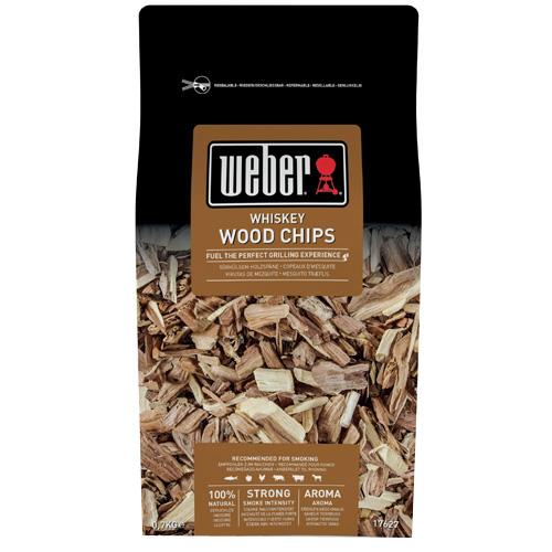 Udící lupínky Weber Whiskey, dřevěné, 700g