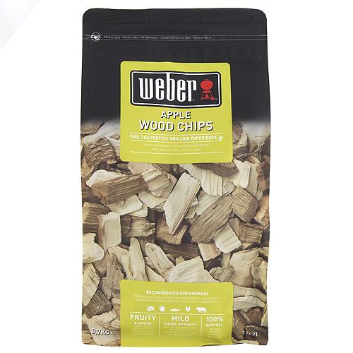 Udící lupínky Weber Jablko, dřevěné, 700g