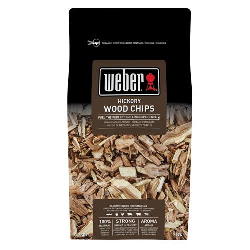 Udící lupínky Weber Hickory (bílý ořech), dřevěné, 700g