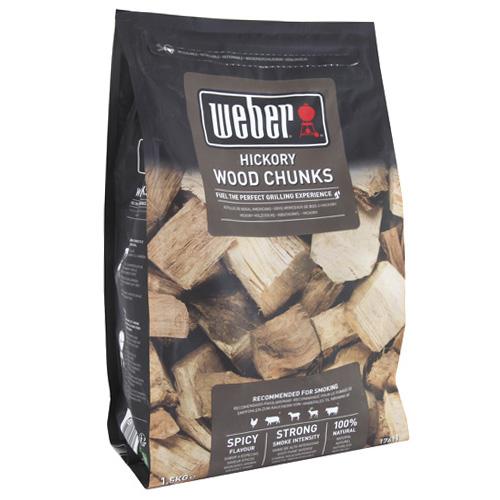 Udící špalíky Weber Hickory (bílý ořech), dřevěné, 1.5 kg