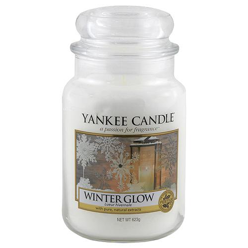 Svíčka ve skleněné dóze Yankee Candle Zářivá zima, 623 g