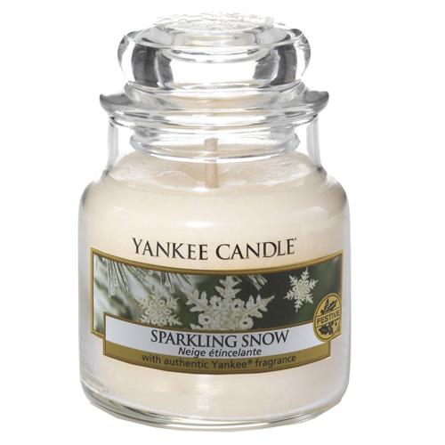 Svíčka ve skleněné dóze Yankee Candle Jiskrný sníh, 104 g
