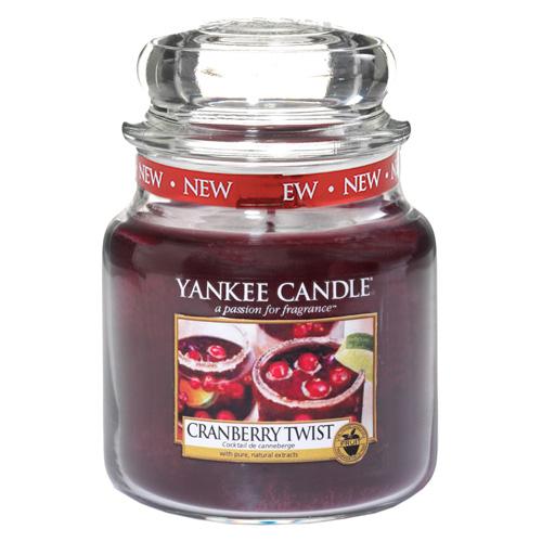 Svíčka ve skleněné dóze Yankee Candle Brusinková lahoda, 410 g