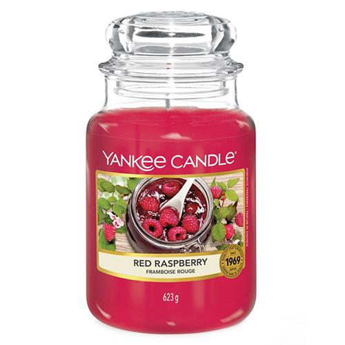 Svíčka ve skleněné dóze Yankee Candle Červená malina, 623 g