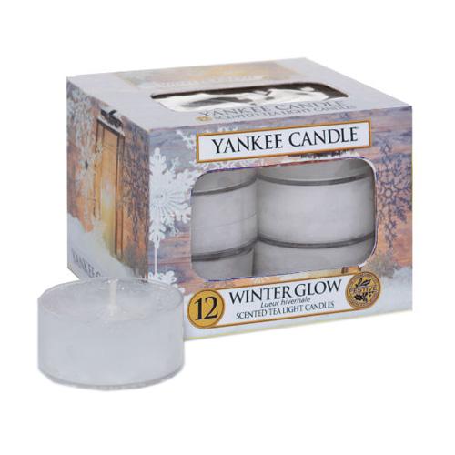 Svíčky čajové Yankee Candle Zářivá zima,   12 ks