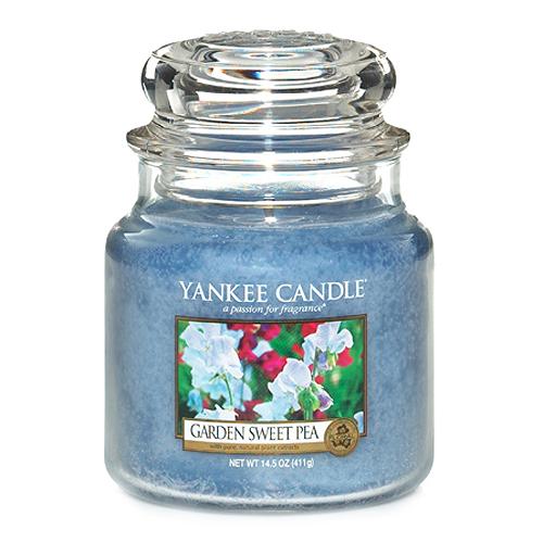Svíčka ve skleněné dóze Yankee Candle Květy ze zahrádky, 410 g