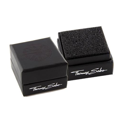 Thomas Sabo POS   Packing   BOX121 40 x 40 x 30 mm - dárková krabička pro korálek, barva černá
