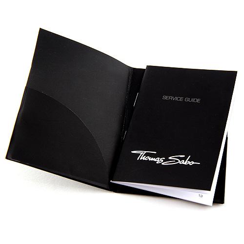 Thomas Sabo POS | Leták - černý 68 x 95 mm - garanční knížka