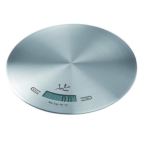 Jata Round kitchen scale, St. Steel