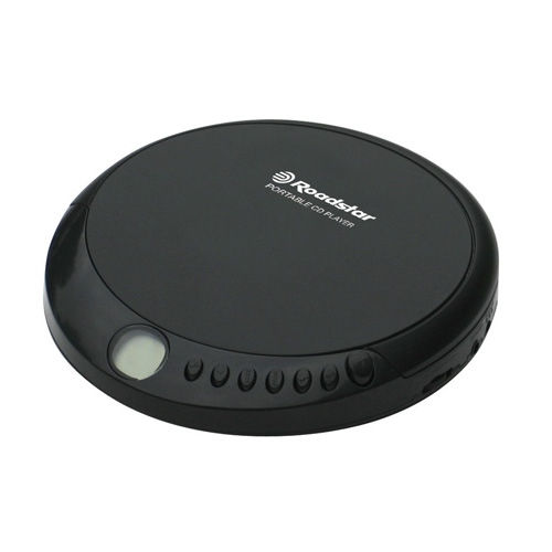 Roadstar PORTABLE CD PLAYER WITH EARPHONE JACK,  EARPHONES INCLUDED