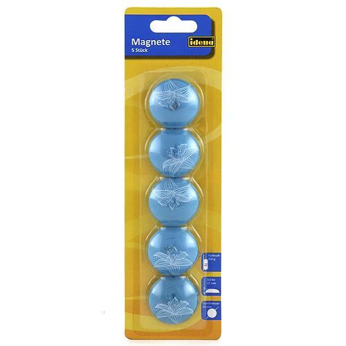 Magnety Idena modré, 5 ks