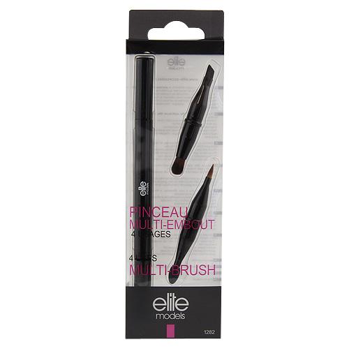 Štěteček 4v1 Elite Models multifunkční, černo-růžový plastový obal