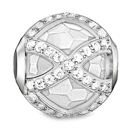 """Korálek """"Maharani bílý"""" Thomas Sabo K0140-690-14, Karma Beads, 925 Sterling silver, milky quartz"""