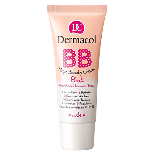 Tónovací krém 8v1 Dermacol Odstín Nude, BB Magic Beauty, SPF 15, 30 ml