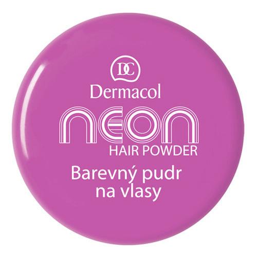 Barevný pudr na vlasy Dermacol Odstín č.4 fialová, Neon, 2.2 g