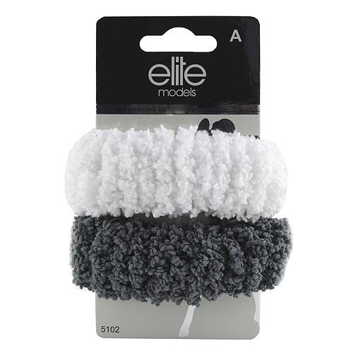 Gumičky do vlasů 2ks Elite Models 2ks, šedo-bílé, průměr 10cm