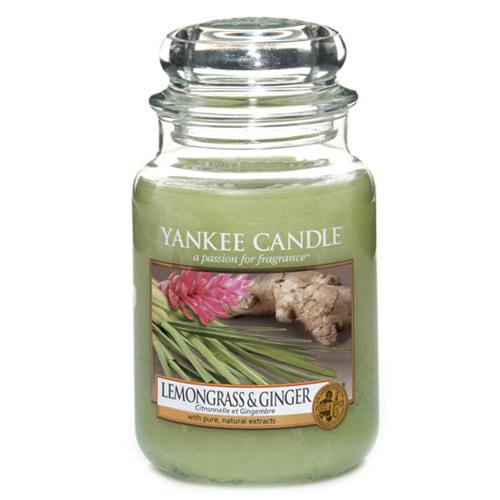 Svíčka ve skleněné dóze Yankee Candle Citrónová tráva a zázvor, 623 g