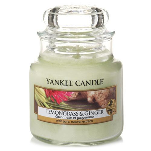 Svíčka ve skleněné dóze Yankee Candle Citrónová tráva a zázvor, 104 g