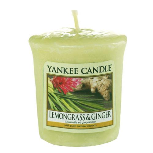 Svíčka Yankee Candle Citrónová tráva a zázvor, 49 g