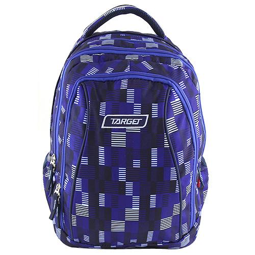 Školní batoh 2v1 Target Tmavomodrý s čárkami