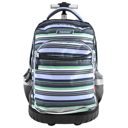 Školní batoh Target Pruhovaný, černo-modro-zelený