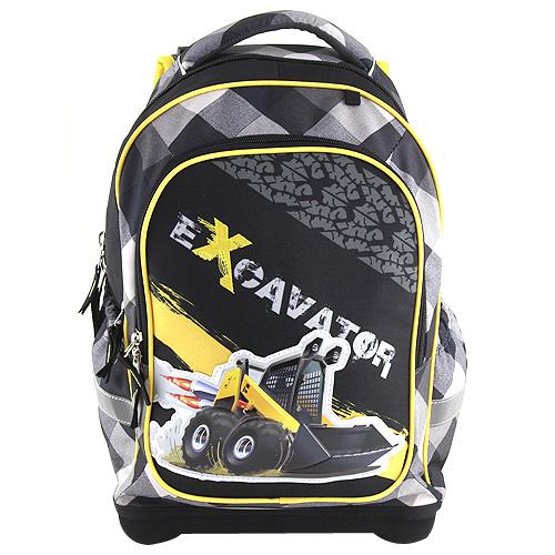 Školní batoh Target Excavator, barva černá