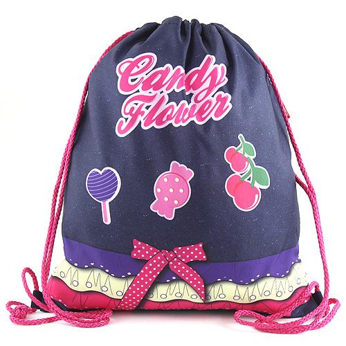 Sportovní vak Target Candy Flower - výjimečný sportovní vak, barva fialová