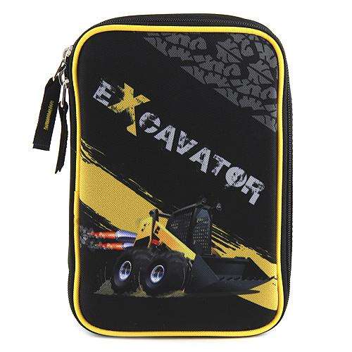 Školní penál s náplní Target Excavator, barva černá