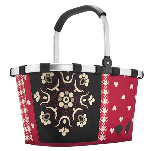 Nákupní košík Reisenthel Červeno-černý s ornamenty, carrybag