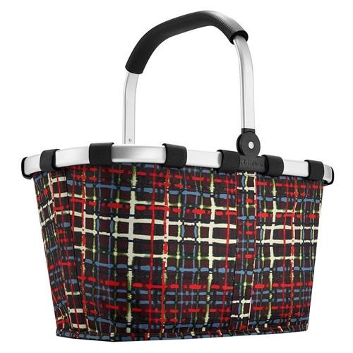 Nákupní košík Reisenthel Černý s barevnými proužky, carrybag