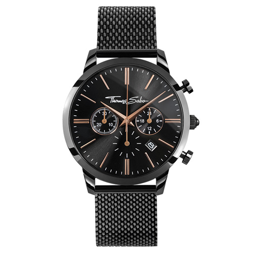 Pánské hodinky Thomas Sabo WA0247-202-203-42 mm, Watches, stainless steel, mineral glas