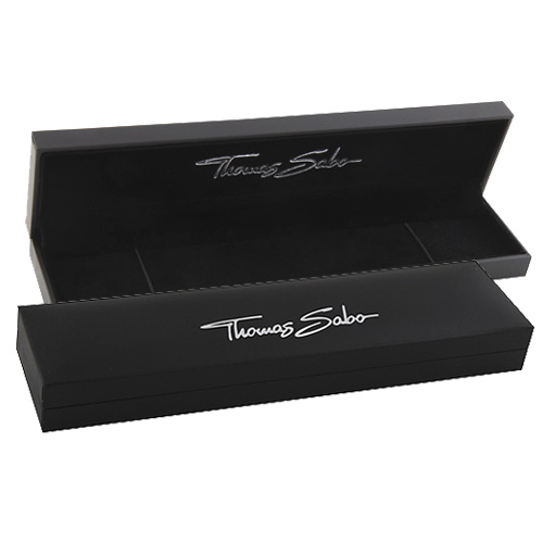 Thomas Sabo POS   Packing   BOX104_BL 241 x 55 x 30 mm - dárková krabička pro náramek, barva černá
