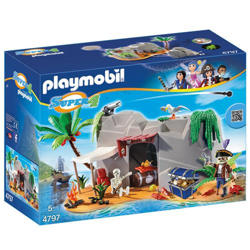 Pirátská jeskyně Playmobil 2 panáčci s doplňky, 93 dílků