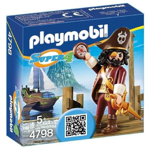 Pirát Sharkbeard Playmobil panáček s doplňky, 7 dílků