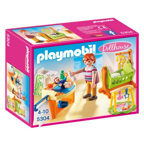 Dětský pokoj s kolébkou Playmobil Dům pro panenky, 28 dílků