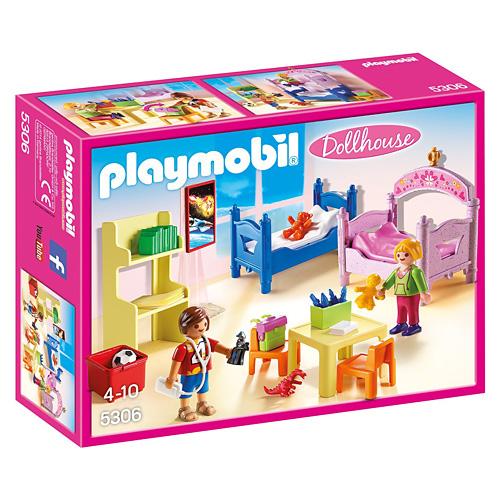 Barevný dětský pokoj Playmobil Dům pro panenky, 39 dílků