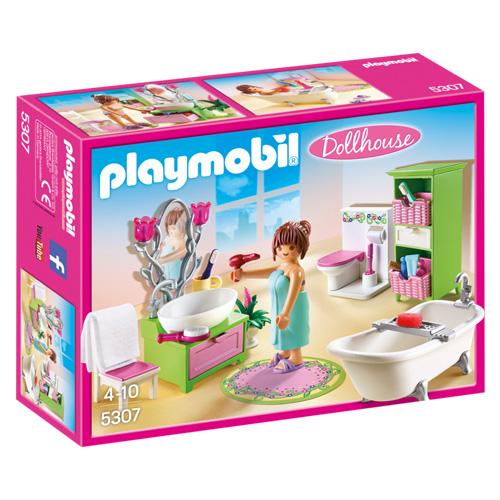 Romantická koupelna Playmobil Dům pro panenky, 50 dílků