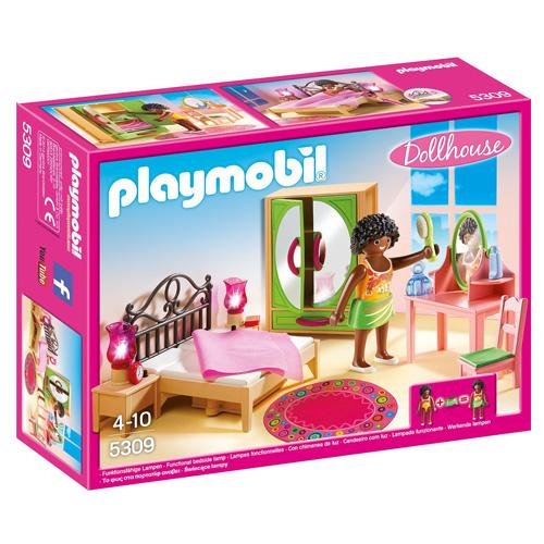 Ložnice s toaletením stolkem Playmobil Dům pro panenky, 24 dílků