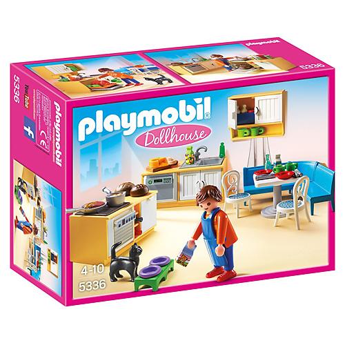 Kuchyně s jídelním koutem Playmobil Dům pro panenky, 84 dílků