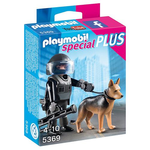 Policejní těžkooděnec se psem Playmobil Policie, 7 dílků