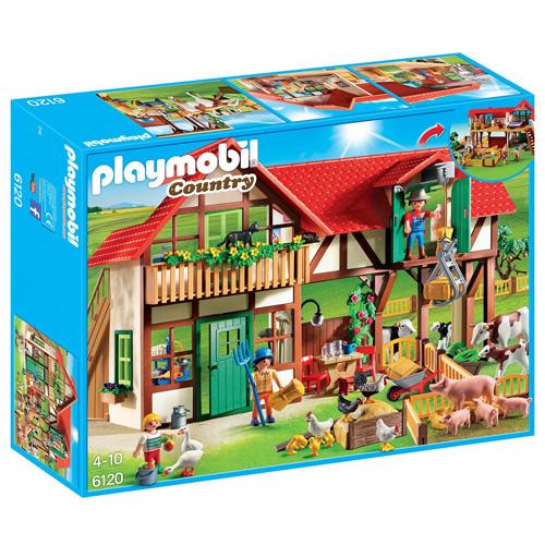 Velká farma Playmobil 3 panáčci s doplňky a domem, 257 dílků
