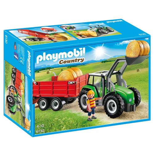 Velký traktor s přívěsem Playmobil panáček s doplňky a traktor, 45 dílků