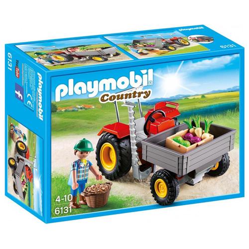 Malotraktor Playmobil panáček s doplňky a traktor, 22 dílků
