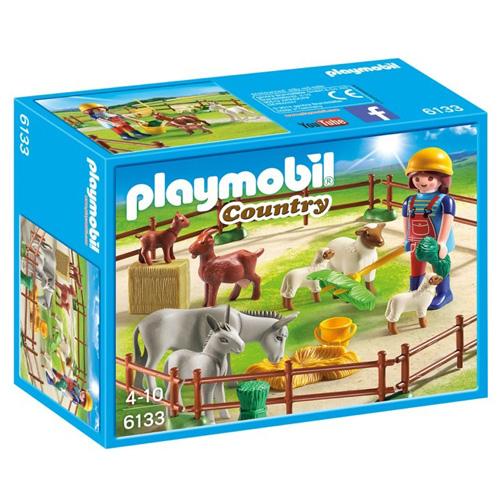 Zvířata na pastvě Playmobil panáček s doplňky, 29 dílků