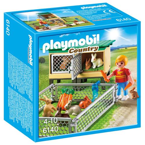 Králíkárna s venkovním výběhem Playmobil panáček s doplňky, 32 dílků