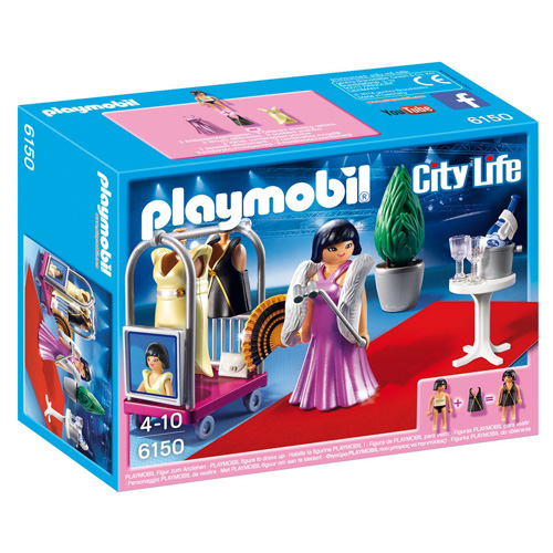 Celebrita na červeném koberci Playmobil 1 panáček s doplňky, 36 dílků