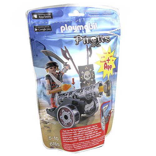 Pirát s kanónem Playmobil 1 panáček s černým interaktivním kanónem, 24 dílků
