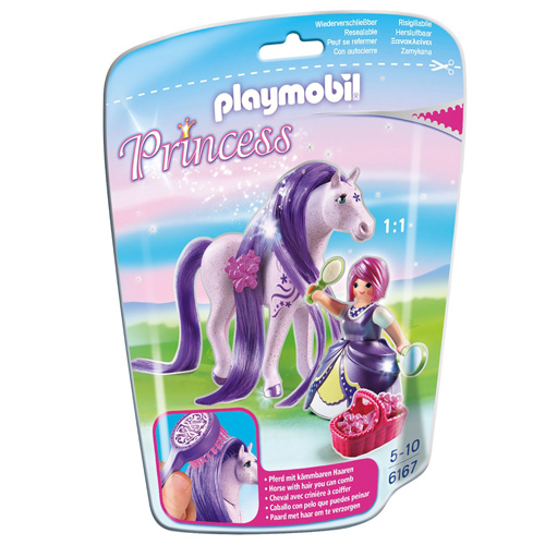 Princezna Viola s koněm Playmobil fialový kůň a panáček, 17 dílků