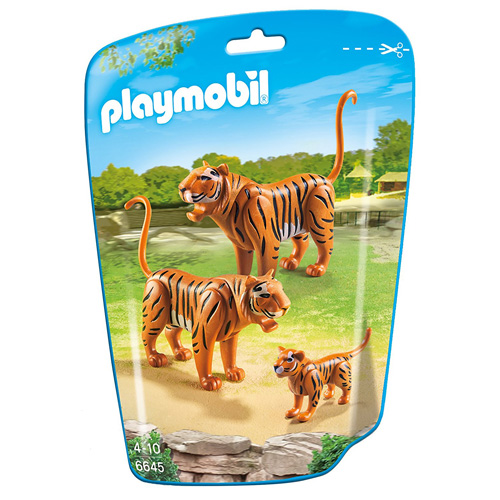 Tygři s mládětem Playmobil Zoo, 3 figurky